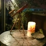 カフェ&ワインバー ロワ - 天気のいい夜には天体望遠鏡で星を・・・