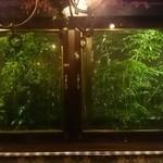 カフェ&ワインバー ロワ - 窓から見える木々もライトが当たって綺麗!!!!!