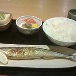 ザ・めしや - 揚げ出し豆腐+さんま+納豆