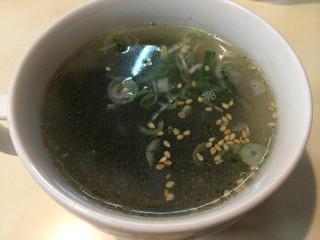 山水亭 - 炒飯のスープ