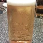 水炊き風もつ鍋 もつ彦 - 生ビール