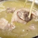 刀根赤鶏の水炊き鍋(1人前)