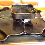 かつみ食堂 - ジンギスカン鍋です、ちょいと変わっていますねぇ