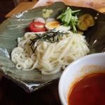 ぽんぽこの里 - トマトつけ麺[\550]