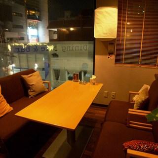 居心地の良いソファ席