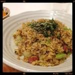 Maisai - 梅と鴨のレタスピラフ /  厚切りベーコンみたいな鴨肉が良いアクセントになっていて美味しかったです。+100円でサラダを追加できます。