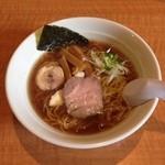 今日から - 無化調仕立ての鶏豚スープの杉樽しょうゆラーメン。