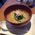 30240735 - 柚子風味のスープ麺ハーフ