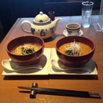 30240745 - 柚子風味のスープ麺ハーフ&坦々麺ハーフ