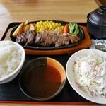 蒜山高原サービスエリア(下り線)レストラン - ジャージー牛サーロインステーキ御膳
