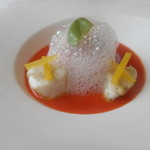 30251731 - ベトラブのムースにセイゴの白バルサミコマリネガスパッチョのソース