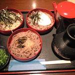 30251759 - 三色割子そば(わさび茎、とろろ、山菜)