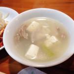 オムニ食堂 - ランチのスープ