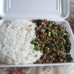Mangosuchin - バッカパオ(挽肉のバジル炒め)500円