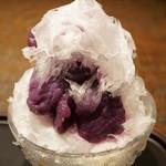五大 - 紫芋(700円)に練乳トッピング(70円)