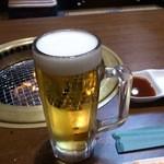 和牛ホルモン 文吾商店 - 生ビール