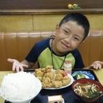 さくら食堂 - から揚定食ご飯大盛り(700+50円)