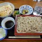 代々木庵 - もり玉子丼セット¥820-