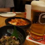 SHIROKIYA - キムチ、たこわさ、ビール