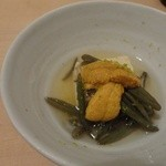 30268989 - 雲丹、じゅん菜、高野豆腐