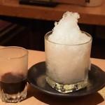 酔虎伝 - ちょっぴり大人のかき氷 カシス 430円