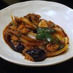 釜めし古都 - 茄子味噌炒め とってもコクがあり ご飯が進みそうな一品
