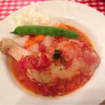 30274059 - とげまるランチ(1,080円)                       本日の煮込み料理(若鶏のトマト煮プロバンス風)