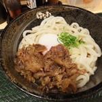 はなまるうどん - 牛肉温泉ぶっかけ(中):500円