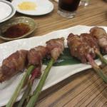 ごっつ - 葉生姜の肉巻き焼き