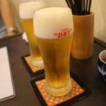 かげろう - ランチグラス生ビール400円