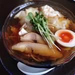 らーめん 三福 - 2014/8/30「冷やしワンタン麺」800円