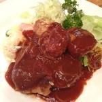 Grillにんじん - 本日のランチ、近所の洋食屋にんじんで。豚ヒレカツ❗️柔らかくて美味しかった(^o^)/
