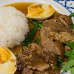 クンメー2 - カオカームー(豚足ご飯)