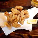 二丁目酒場 - ホルモンの天ぷら(¥302)。ボリュームばっちり! チープに呑むならコレだね