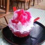 せきれい茶屋 - 真っ赤な氷イチゴ