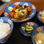 桃林 - 料理写真:酢豚セット