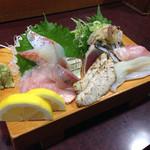波布鮨 - 地魚やかつお。なんと言ってもキンメ。脂が乗ってて美味しかったです。あぶりトロも最高でした。