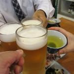 松本 - カンパ~イ!車の運転する人はお茶でね。