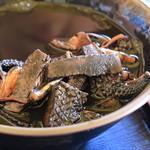 読谷村漁業協同組合 海人食堂 - イカスミ汁の中