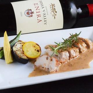 ◆お料理とのマリアージュ!こだわりワインもどうぞ♪