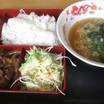熊猫 - 焼肉定食¥750円 2014/8月