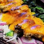 生け簀の銀次 - 長崎県産牡蠣とほうれん草の濃厚ウニソース鉄板焼き定食