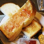30302696 - トースト、苺ジャム