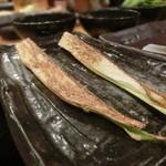 鉄板神社 - マコモダケ、初めて食べるね串では。。