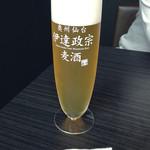 牛たん焼きと伊達ごはん だてなり屋 - きめ細かくクリーミーなビール!@1200