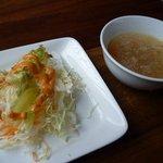 クウシ - サラダとスープ