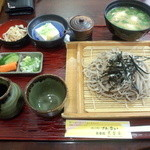 レストラン 農香庵 - 満足セット(十割そばと芋の子汁)