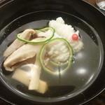 懐石料理 桝田 - 御椀(鱧と松茸)