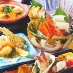 北海道料理ユック 北の海道 - 雲丹と帆立の卵とじ会食