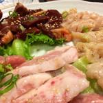 まるよし - 料理写真:ミノ ハツ トントロ